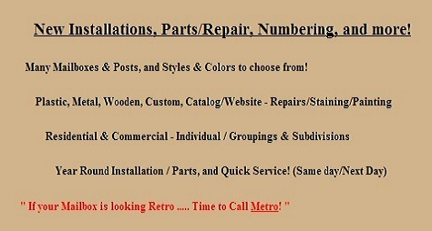 New Installations, Parts/Repair, Numbering, and more!